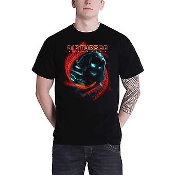 Disturbed T Shirt DNA Swirl Band Logo new Official Mens Black