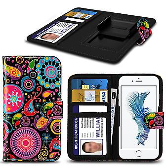 i-Tronixs Alcatel Onetouch Go Play Case PU Leather Jellyfish Printed Design Pattern Wallet Clamp Style Spring Skin Cover- Jelly Fish