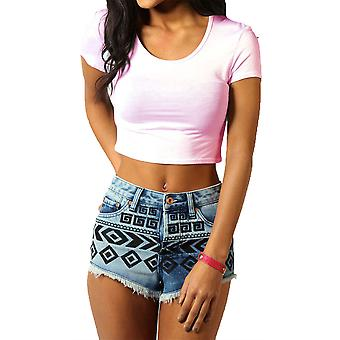 RE TECH UK - Women's Short Sleeve Crop Top