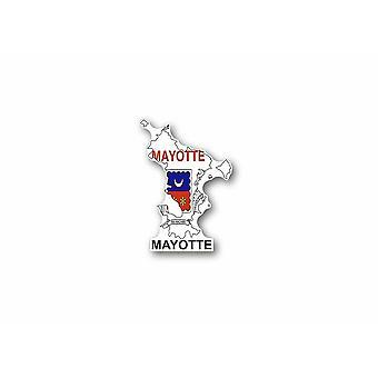 Patch ecusson imprime badge vintage drapeau mayotte