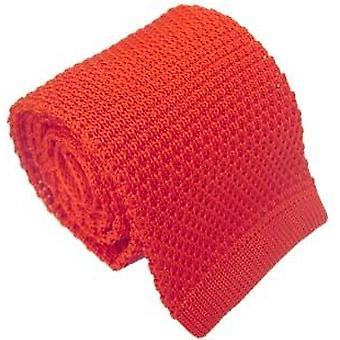 Michelsons of London Silk Knitted Tie - Red