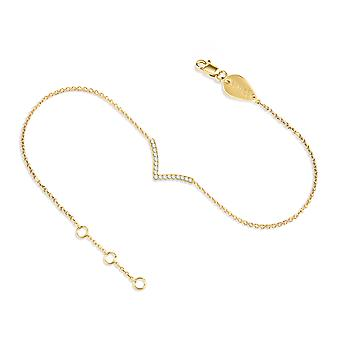 Anklet Victory 18K Gold and Diamonds - Yellow Gold
