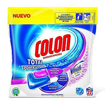 Tampas de gel de potência total do cólon desaparecem cápsulas de detergente da lavanderia (22 lavadas)
