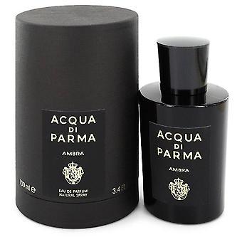 Acqua Di Parma Ambra Eau De Parfum Spray Przez Acqua Di Parma 3.4 uncji Eau De Parfum Spray