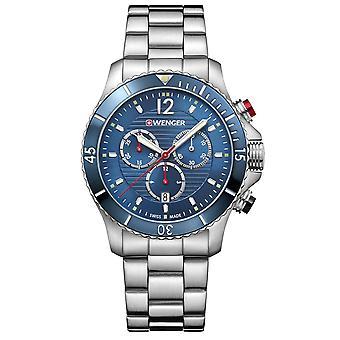 Wenger Seaforce Chronograph Quartz Blue Dial Stainless Steel Bracelet 01.0643.111 RRP £295