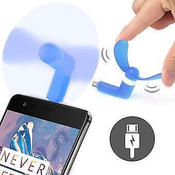 Xiaomi Mi 10 Lite 5G (Typ-C - blau) Tragbare Tasche Größe USB Mini Lüfter