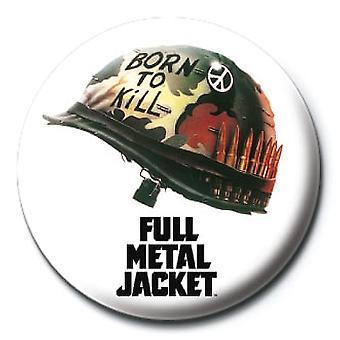 Fuld metal jakke hjelm 25mm Pin Button Badge