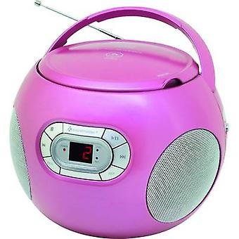 soundmaster SCD2120PI Radio CD-spiller FM AUX, CD Rosa