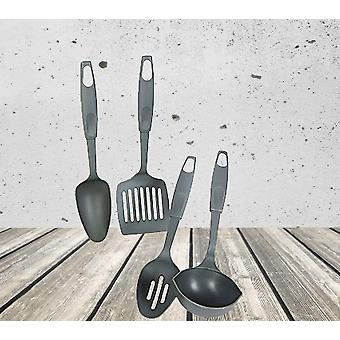 Summit 4pc Utensil Set Ladle, Spachtel, Schlitz und solid Löffel Camping & Outdoor Essen - grau