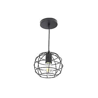 Jandei hängande lampa Svart Rustik Boll E27