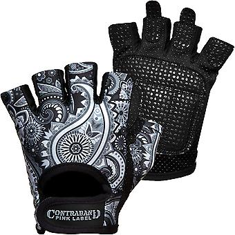Contraband Sports 5387 Pink Label Paisley Weight Lifting Gloves - Gray