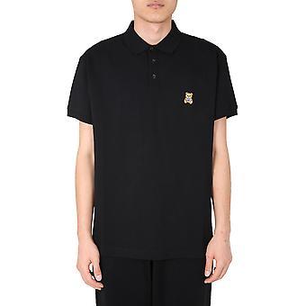 Moschino 120370421555 Men's Black Cotton Polo Shirt
