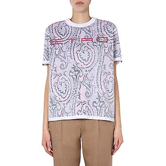 Etro 137219502600 Frauen's Multicolor Baumwolle T-shirt