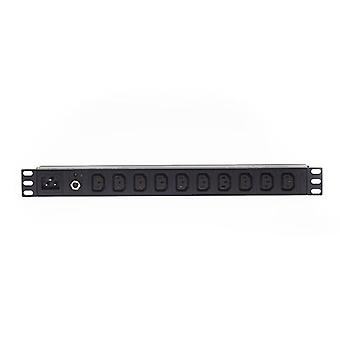 1Ru 10 Way C13 Horizontal Rack Mount Pdu Power Rail