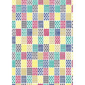 Simon Elvin geometriska mönster presentpapper (förpackning med 24)