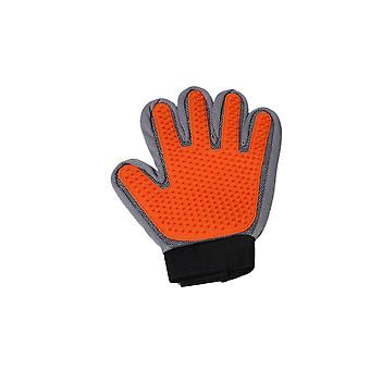 Orange Left Hand Silicone Pet Grooming Glove