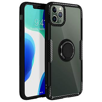 Protective Case Apple iPhone 11 Pro Max Carbon Finish Video Support Ring - Black