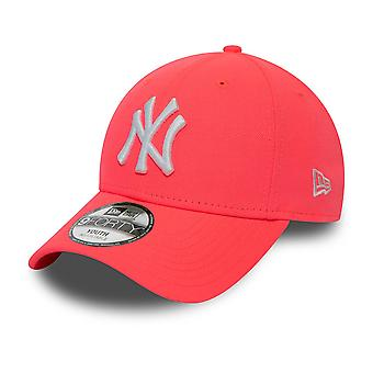 New Era 9Forty KIDS Cap - New York Yankees neon pink