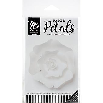 Echo Park Papier Pétales Petite Rose Blanche