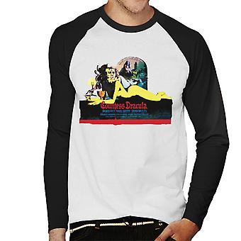 Hammer skräckfilmer grevinnan Dracula Movie poster män ' s baseball Långärmad T-shirt
