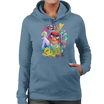 Angry Birds 3D Gang Women's Hooded Sweatshirt