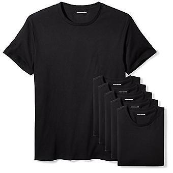 Essentials Men's 6-Pack Crewneck Undershirts, Black, XX-Large