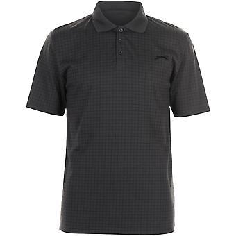 Slazenger Check Golf Polo Herren