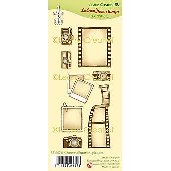 Leane Creatief Cameras, Filmstrips & Pictures Clear Stamps