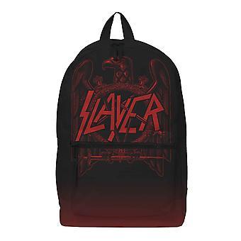 Slayer Backpack Red Eagle Crest Band Logo new Official Rocksax Black