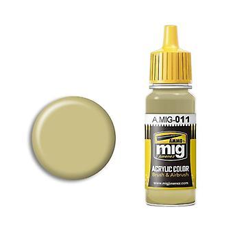 Ammo by Mig Acrylic Paint - A.MIG-0011 RAL 7028 Dunkelgelb Aus 44 Dg I (17ml)