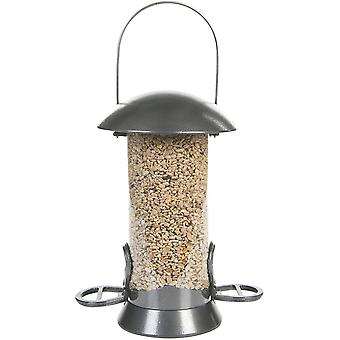 Cj Adventurer Metal Seed Feeder - Gunmetal 2 Port - Small (26cm)