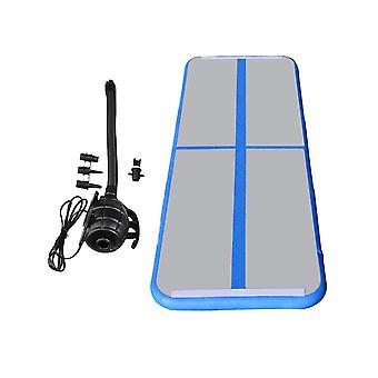 100x60x10CM Gymnastics Tumbling Mat+500W Inflator Blue