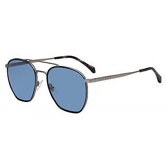 Okulary przeciwsłoneczne Mężczyźni 1090/SR81/KU Męskie szare/niebieskie