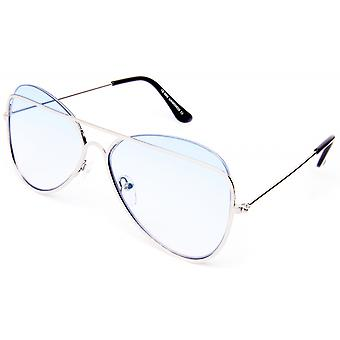 نظارات شمسية Unisex Cat.0 فضة / زرقاء (19-201)