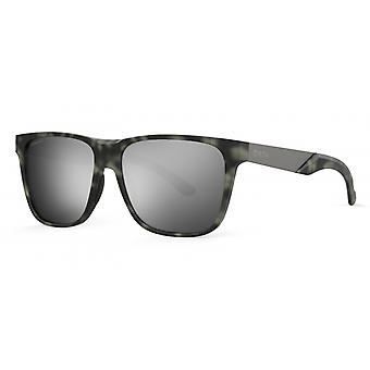 نظارات شمسية Unisex Lowdown الصلب XL مات الأخضر / الرمادي / الفضة