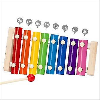Children's Musical Instruments Kid Toy Music Xylophone Developmental Wooden Boys Girls Learning Toys (colorful)