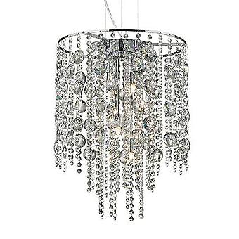 Ideale Lux Evasione - 8 Licht Deckenanhänger Chrom mit Kristallen, G9