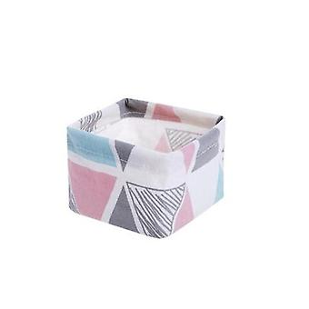 Laundry Hamper Dirty Cloth Basket With Printed Design Washing Bag For Bathroom