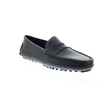 Sebago Russel Mens Blue Leather Loafers & Slip Ons Moccasin Shoes