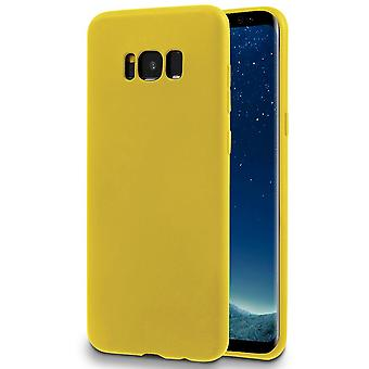 Single Color Soft Shell for Samsung Galaxy S8 Plus Silicone Lightweight Ultra-Slim Thin Yellow