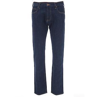 Armani jeans men's j45 dark blue jeans
