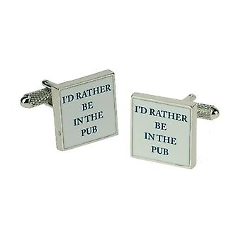 Ties Planet I'd Rather Be In The Pub Novelty Cufflinks
