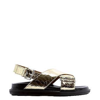 Marni Fbms010501p376800w41 Naiset's Kulta nahka sandaalit