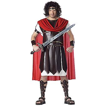 Hercules Roman Warrior Gladiator Deluxe Men Costume Plus