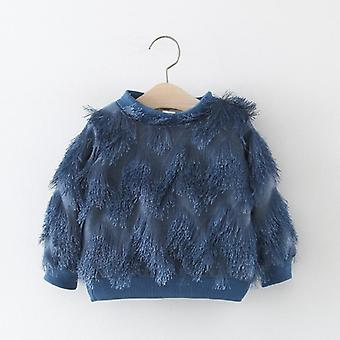Fashion Warm Winter Velvet Tassel Thicken Pullover