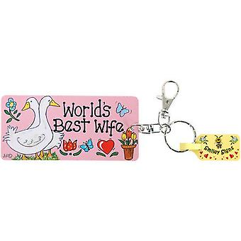 Something Different World Best Wife Key Rings (Pack Of 6)