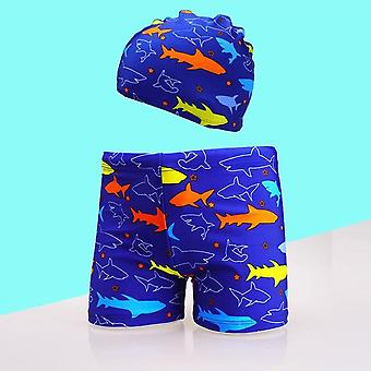 Quick Dry And Breathable-cartoon Printed Cap And Shorts-swim Wear