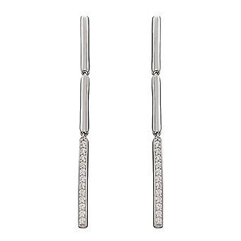 Fiorelli Silver Drop Stick Pave Earrings E5892C