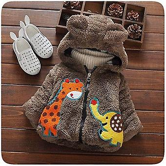 Fashion Baby Boys Jackets Fur Collar Autumn Winter Kids Warm Thick Parkas Children Outerwear Girl Coat