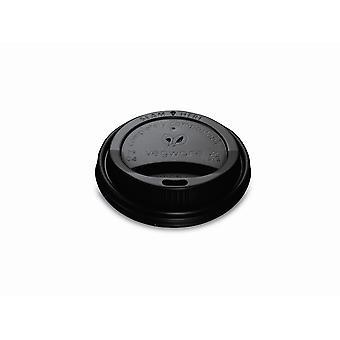 Vegware Compostable Black Hot Cup Lids 8oz